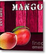 Mango Farm Sign Metal Print