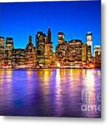 Manhattan - New York City Metal Print
