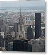 Manhattan From The Empire State Building Metal Print