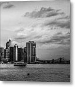 Manhattan Skyline Right Triptych Metal Print