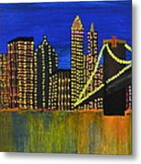 Manhattan Skyline Metal Print by Shruti Prasad