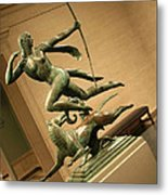 Manship's Diana And A Hound Metal Print
