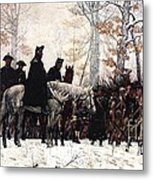 March To Valley Forge Metal Print