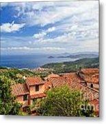 Marciana Village - Elba Island Metal Print