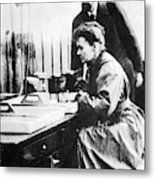 Marie And Pierre Curie Metal Print