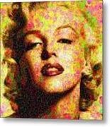Marilyn Monroe - Maple Leaves Metal Print