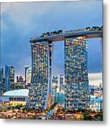 Marina  Bay Sands - Singapore Metal Print