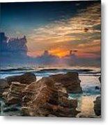 Marineland Beach Sunrise Metal Print