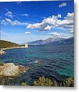 Martello Tower Near St Florent In Corsica Metal Print