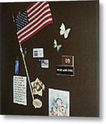Mary Ann Guss' Patriotic Door Baldwin City Kansas 2002 Metal Print