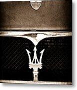 Maserati Hood - Grille Emblems Metal Print