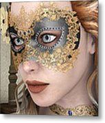 Masquerade Mask Metal Print