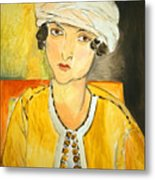 Matisse's Lorette With Turban And Yellow Jacket Metal Print