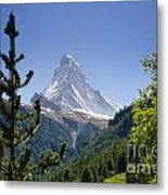 Matterhorn In Zermatt Metal Print