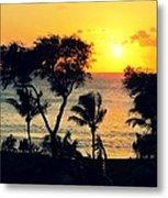 Maui Sunset Metal Print