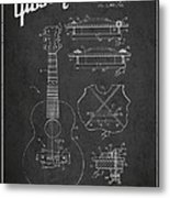Mccarty Gibson Stringed Instrument Patent Drawing From 1969 - Dark Metal Print