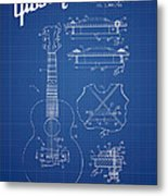 Mccarty Gibson Stringed Instrument Patent Drawing From 1969 - Bl Metal Print