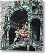 Mechanical Clock In Munich Germany Metal Print