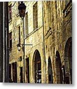 Medieval Street In France Metal Print