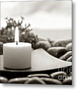 Meditation Candle Metal Print