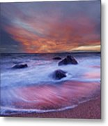 Meigs Point Sunset Metal Print