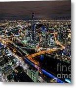 Melbourne At Night Vi Metal Print