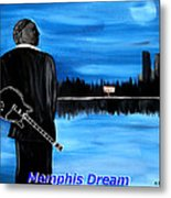 Memphis Dream With B B King Metal Print by Mark Moore