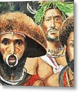 Men From New Guinea Metal Print