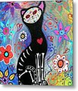 Meow II Day Of The Dead Metal Print