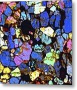 Meteorite Nwa 6435, Light Micrograph Metal Print