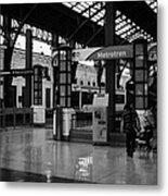 metrotren platforms in Santiago central railway station Chile Metal Print