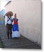 Mexican Revolutionary Re-enactor With His  Lady Helldorado Days Tombstone Arizona 2004 Metal Print