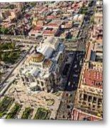 Mexico City Aerial View Metal Print