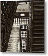 Michigan Capitol Stairwell Metal Print