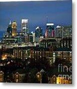 Midtown Atlanta Skyline At Dusk Metal Print