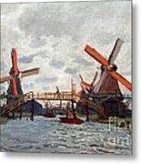 Mills At Westzijderveld Near Zaandam Metal Print
