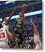 Milwaukee Bucks V Chicago Bulls - Game Metal Print