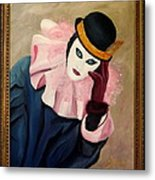 Mime With Thoughts Metal Print
