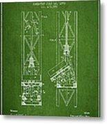 Mine Elevator Patent From 1892 - Green Metal Print