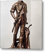 Minutemen Soldier Metal Print
