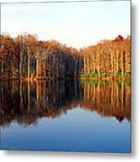 Mirror Lake Panoramic Metal Print