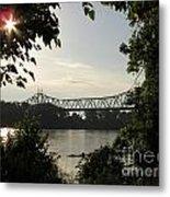 Missouri River Sunrise  Metal Print