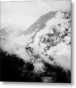 Mist In Mountain Himalayas Metal Print