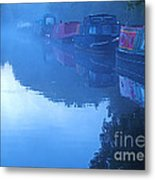 Misty Morning On The Grand Union Canal Metal Print
