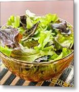 Mixed Salad On Table Metal Print