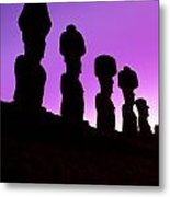Moais Easter Island Chile Metal Print