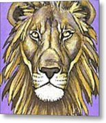 Mod Male Lion Metal Print