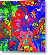 Modern Abstract Painting Original Canvas Art Young Life By Zee Clark Metal Print