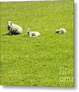 Mom And Kids Metal Print