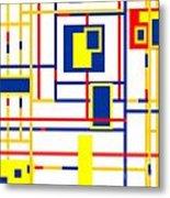 Mondrian Color Teraphy Metal Print